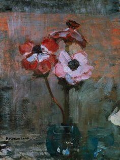 Piet Mondrian - Anemones dans un pot