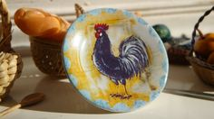 Vintage Country Blue Rooster  Dollhouse by Twelvetimesmoreteeny, €3.10