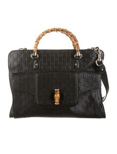 Gucci Medium Bamboo Guccissima Tote Black Messenger Bag. Get one of the hottest styles of the season! The Gucci Medium Bamboo Guccissima Tote Black Messenger Bag is a top 10 member favorite on Tradesy. Save on yours before they're sold out!