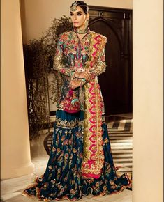 Global market Leader in Ethnic World, we serve End 2 End Customizable Indian Dreams That Reflect with Amazing Handwork & Unique Zardosi Art by Expert Workers Worldwide . Pakistani Formal Dresses, Pakistani Wedding Outfits, Indian Gowns Dresses, Pakistani Bridal Dresses, Pakistani Dress Design, Bridal Outfits, Fancy Wedding Dresses, Party Wear Dresses, Lehenga Choli
