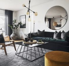 Scandinavian design never gets old. Loving these rich colours and lush textures. My Living Room, Interior Design Living Room, Home And Living, Living Room Decor, Decoration Inspiration, Decoration Design, Deco Design, Design Lounge, Living Room Inspiration