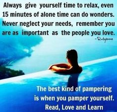 Love and Pamper yourself ❤️☀️