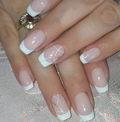 70 Trendy Designs Acrylic Nails To Try Once - Polish and Pearls French Manicure Nail Designs, French Tip Acrylic Nails, Acrylic Nail Designs, Nail Manicure, French Nail Art, Nails Design, French Manicure With Glitter, Bridal Nails French, French Manicure Gel Nails