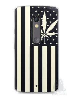 Capa Capinha Moto X Play Maconha Bandeira EUA - SmartCases - Acessórios para celulares e tablets :)