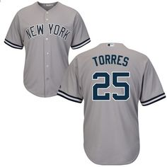 buy popular 30132 50104 Bărbați New York Yankees Gleyber Torres Jersey MLB   25 Alb   Navy Gray  Flex Baza de Base Base Baseball