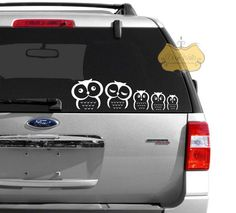 Stick Family Owl Family Vinyl Vehicle Decal Vinyls Awesome And - Family car sticker decalsfamily car decal etsy