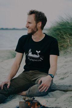 Mormonism t shirt. Surfing merman graphic.