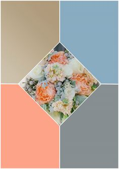 Champagne/dusty blue/peach/pewter gray