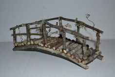 Fairy Garden Bridge miniature mini terrarium by SnarlingBunny
