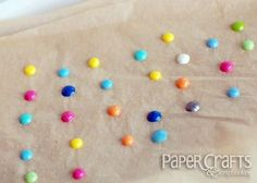 "Coffee and Pretty Paper: Make It Monday:  DIY ""Enamel"" Dots"