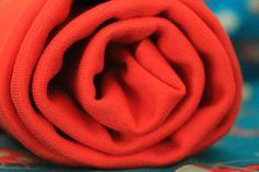 Stoffonkel - Bio-Bündchen Soft-Rib Uni-Rot  #stoffonkel #fabric #BIO #softrib #uni #cotton #rib #red
