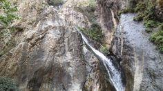 Wasserfälle von Setti Fatma im Ourika-Tal im Hohen Atlas, Marokko: Die oberste - und nur etwas fleissigeren Wanderern zugängliche - der sieben Kaskaden Marrakech, Tags, Fountain, Morocco, Mailing Labels