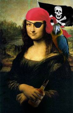 Pirate Mona Lisa by Mr. Rallentando --cuz who doesn't want to be a pirate? La Madone, Mona Lisa Parody, Mona Lisa Smile, Renaissance Artists, Italian Artist, Many Faces, Teaching Art, Pirates, Photoshop