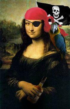 Pirate Mona Lisa by Mr. Rallentando