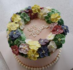 birthday cake apple blossom cake
