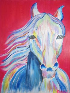 A Horse of a Different Color  9x12 Painting by DivineChicArt, $45.00