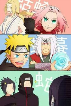 sakura and tsunade then naruto and juria and itatchi is like don't even think of it orochimaru lolthey become stronger the all them all the ledgandary trio.