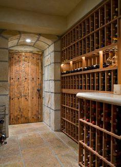 Tuscan Wine Room mediterranean-wine-cellar