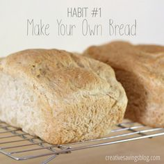 Learning to make your own bread is a frugal habit every homemaker should try! Not only is it much healthier, homemade bread costs pennies compared to those overpriced loaves at the store. Try one of the 9 recipes in this post to get started!