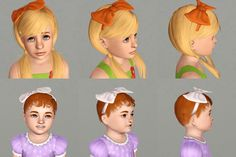 Sims 3 Download: Bound Up Bows Converted for child and toddler