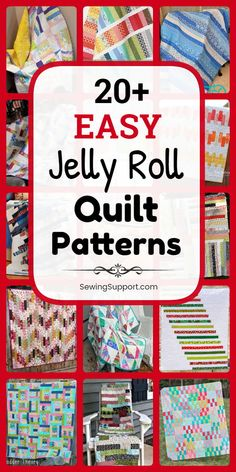 Free Quilt Patterns for Jelly Roll Quilts. easy jelly roll quilt patterns, tutorials, and diy sewing projects easy enough for a beginner to sew. Designs include easy strip, square, and race quilts. Strip Quilt Patterns, Jelly Roll Quilt Patterns, Modern Quilt Patterns, Strip Quilts, Easy Quilts, Sewing Patterns Free, Free Sewing, Quilt Blocks, Diy Sewing Projects