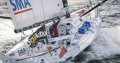 skipper Paul Meilhat (FRA) au départ du Vendée Globe, aux Sables d'Olonne le 6 Novemb