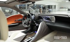 Lexus LF-LC Concept interior.. oh yea that center console its touch screen.. and the door locks and window controls.. you guessed it touch screen!!!