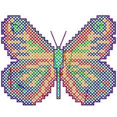 borboletas em ponto cruz