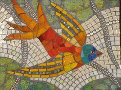 "Maplestone Gallery  ~  Contemporary Mosaic Art  ~   ""Magic Bird"" by Patricia Ormsby"