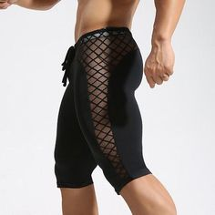 Mens Sexy Breathable Quick-drying Bodybuliding Skinny Legging Basketball Jogging Sport Shorts is Durable-NewChic Jogging, Sport Outfit, Lingerie For Men, Hommes Sexy, Latest Mens Fashion, Sport Shorts, Look Cool, Skinny Fit, Sexy Men