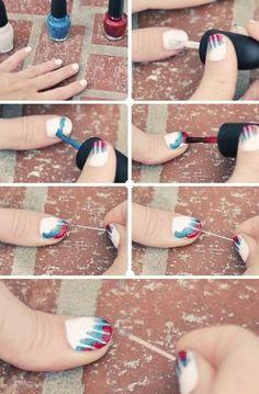 sky blue diy nail art lace : Nail Art Designs | Short | Easy | Polish