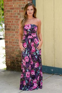 10% off & FREE shipping with code REPJENNIFER!  In My Own World Maxi Dress - Violet