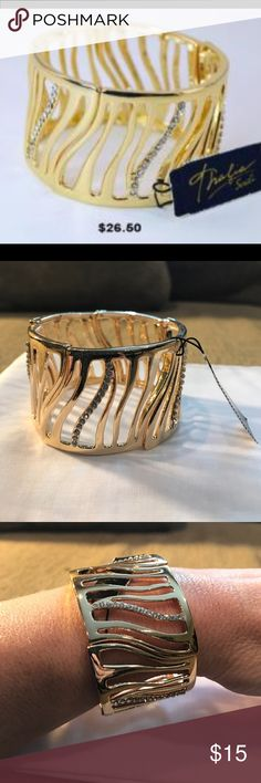 Thalia Gold Pave Tiger Stretch Bracelet Brand new has one mark shown in the pictures Thalia Sodi  Jewelry Bracelets