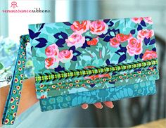 Sateen Clutch with Dimensional Ribbon Embellishment: Renaissance Ribbons   Sew4Home