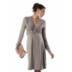 Taupe Knot Front Dress