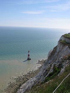 Lighthouse at Beachy Head, England