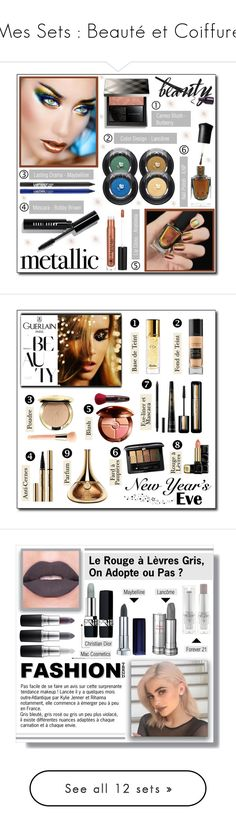 """""""Mes Sets : Beauté et Coiffure"""" by drinouchou ❤ liked on Polyvore featuring beauty, Deborah Lippmann, Lancôme, Maybelline, Bobbi Brown Cosmetics, Anastasia Beverly Hills, Burberry, metallicmakeup, Guerlain and nyebeauty"""