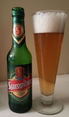 Staropilsen Czech Pilsener is ABV from the brewery of the same name in Plzeň, Czech Republic. The appearance is dark yellow with a large head and the nose bready cereal grain and Euro hop. Beer Of The Month, Czech Beer, Malt Beer, Beers Of The World, Brew Pub, Beer Label, Brewery, Beer Bottle, Bitterness