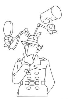 Inspector Gadget Think Of Something Coloring Pages For Kids Printable