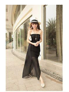9ba32601bd Bohemian long chiffon tube dress beach dress 9875