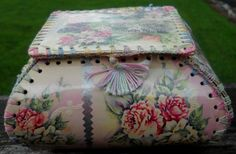 Vintage Hand Made Card Crochet Box by Luv2Junk on Etsy, $24.50