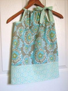pillowcase into baby dresses... homespun-alchemy-tm
