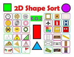 2D Shape Sort with 2 Sorting Mats