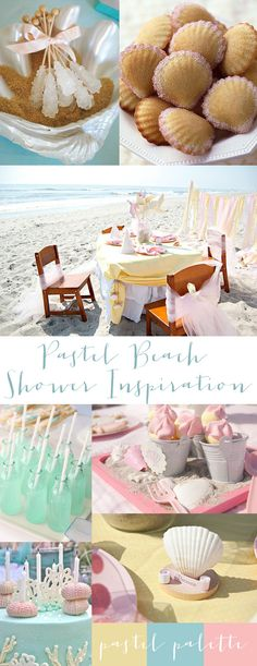 pastel beach shower inspiration (fun ideas for baby and bridal)
