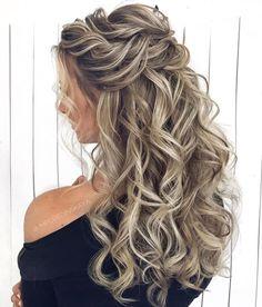 39 Gorgeous Half Up Half Down Hairstyles , braid half up half down hairstyles , partial updo hairstyle ,bridal hair ,boho hairstyle hair hairstyles braids halfuphalfdown braidhair longhairstyles 22095854409080834 Wedding Hair Down, Wedding Hairstyles For Long Hair, Box Braids Hairstyles, Gorgeous Hairstyles, On Your Wedding Day, Bun Hairstyle, Curly Bridal Hair, Bridal Hair Half Up, Hairstyle Ideas