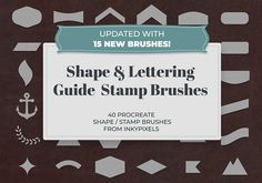 40 Shape Brushes for Procreate by Inky Pixels on @creativemarket