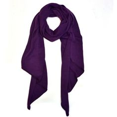 Dasein Soft Piece-Dyed Acrylic Scarf with Triangular Ends (Purple) ($16) ❤ liked on Polyvore featuring purple