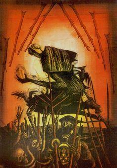 Eight of Wands - Akron Tarot by S.O. Huttengrund