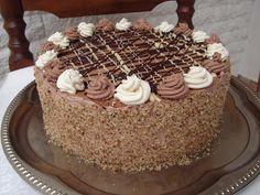 Tortaimádó: Csokitorta kétféle krémmel Torte Cake, Fudge Cake, Brownie Cake, Poke Cakes, Lava Cakes, Custard Cake, Hungarian Recipes, Hungarian Food, Gingerbread Cake