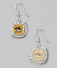 From the Heart Missouri Tigers Silver Logo Earrings - Women bc6ad4c85